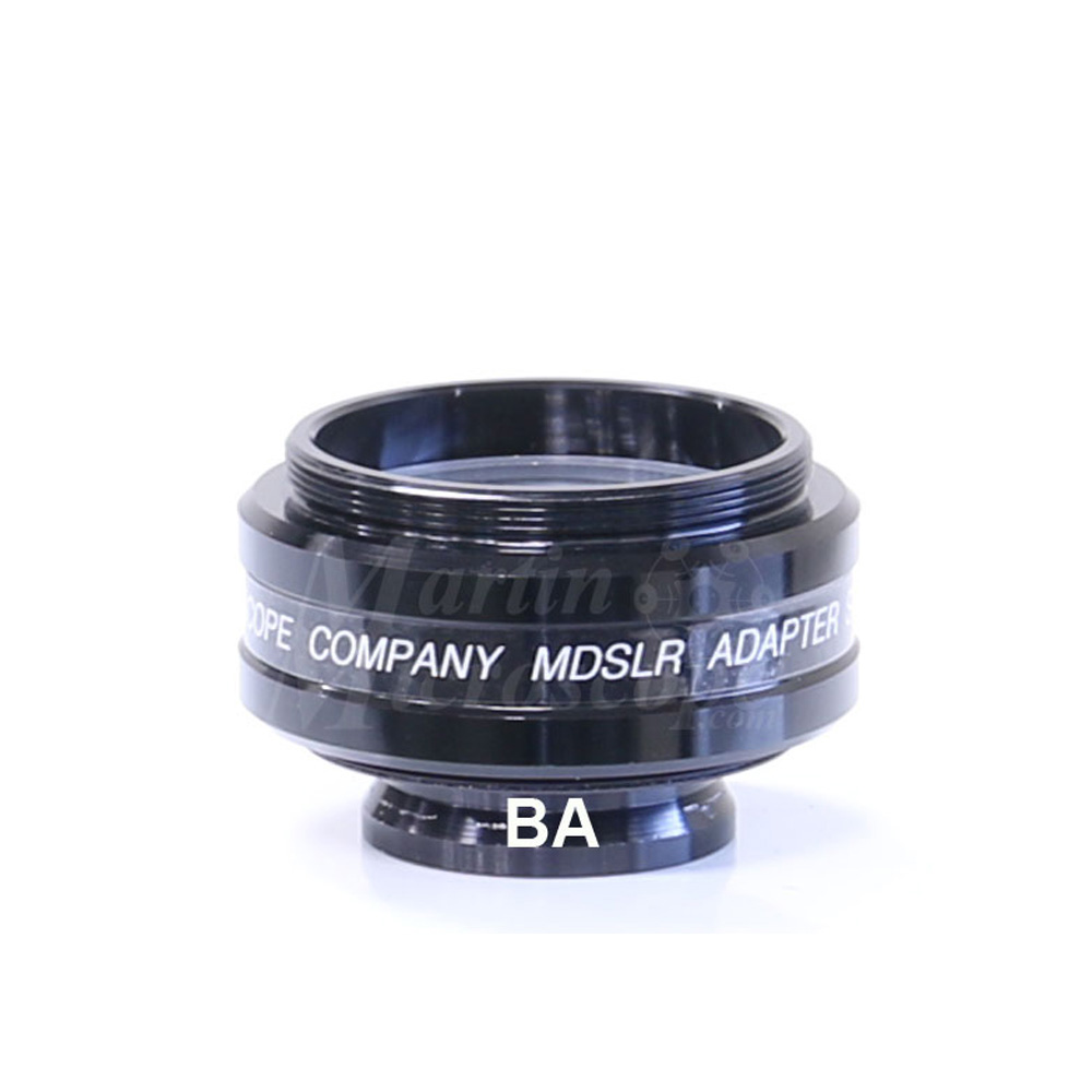 MDSLR-BA 1.38x Widefield T-mount adapter for Motic BAx00T and AE31 Phototubes