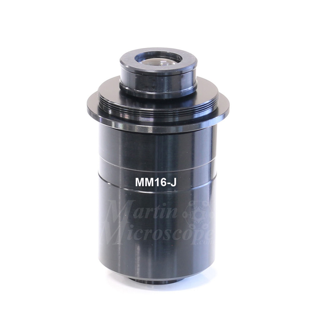 MM16-J 1.6x T-mount Adapter for 23mm I.D / 25mm O.D. Photoports